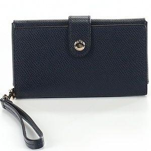 Navy Coach Wristlet/Wallet